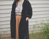 1960s velvet coat / house of nine / large / extra large / plus size