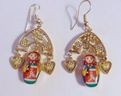 Matryoshka Babushka Earrings Russian Reserved