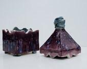 Purple and Blue Spired Ceramic Box