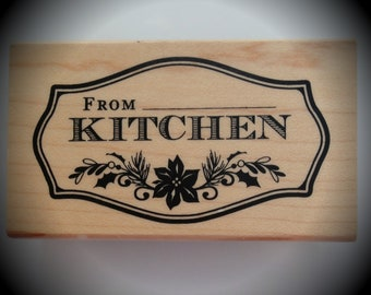 Wood Mounted Rubber Stamp From My Kitchen