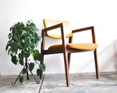 Mid Century Wood Side Chair - Fall Colors - modern danish retro