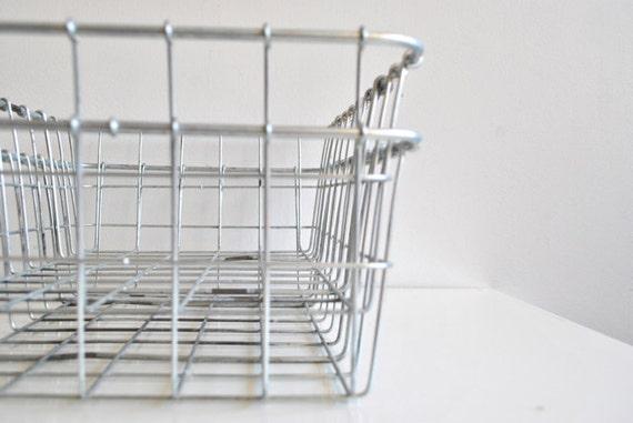 Two Metal Wire Baskets- School Locker - Dorm Room