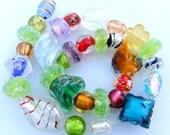 30 Glass Beads Random Mix