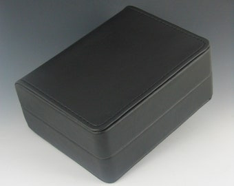 Gift Boxes, Black Leatherette