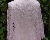 Summer shawl - pale pink    -30% SALE