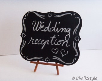 Set of 2 Wedding Chalkboard Signs Rustic Chalk Board Wedding Signage Photo Props Menu Board Table Centerpiece or Place Cards