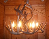 Large Whitetail Antler Chandelier, one of our best sellers, will fit over kitchen table, or entryway, better take a quick look.