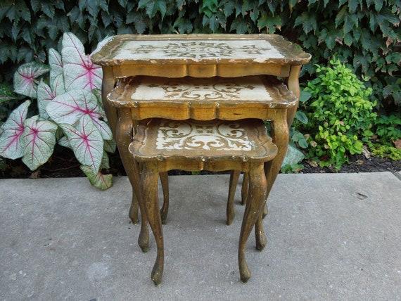 Vintage Italian Florentine Nesting Tables
