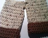 Speckled Brown Fingerless Gloves
