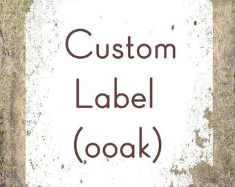 Custom Label Design - OOAK Business Label