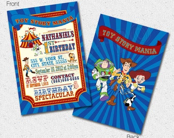 Toy Story Invitations, Toy Story Invites, Toy Story Carnival Invitation, Invitations, Birthday Invitations, Toy Story Party, Invitation
