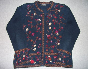 Flowers on The Vine Sweater Tacky Gaudy Ugly Christmas Party Winter Fall X-Mas Warm Holiday S Small M Medium
