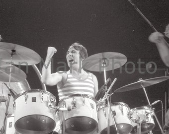 The Who (Keith Moon - drummer) 8x12 Photo 1976                                       Image registered at the United States Copyright Office