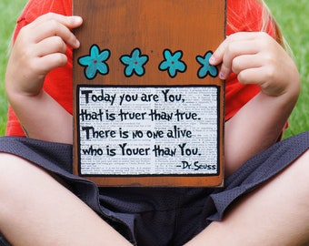 youer than you dr seuss handmade card/sign