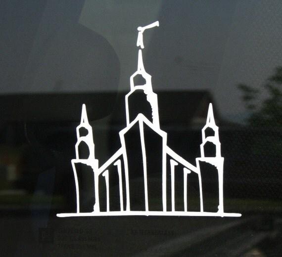 Portland Lds Temple Vinyl Sticker Car Decal Lds By Remembories