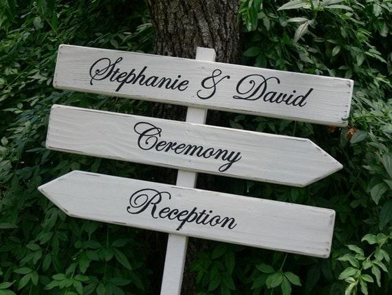 Signes de mariage personnalis panneaux bois mariage trois - Panneau de signalisation personnalise ...