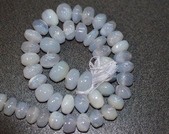 Blue Chalcedony Rondelles Smooth