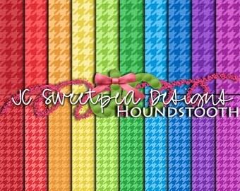 Houndstooth Digital Scrapbooking Paper Kit