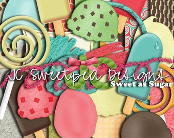 Sweet as Sugar Digital Scrapbooking Kit