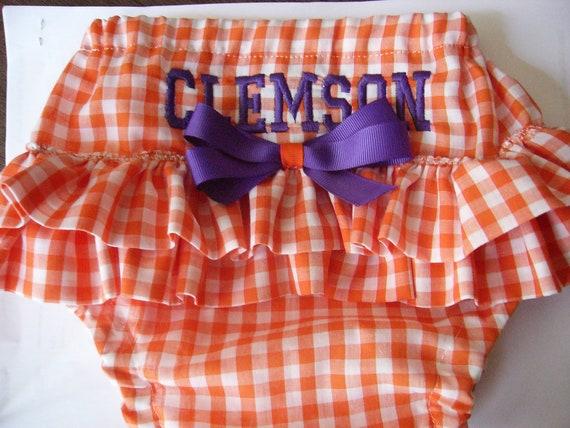 Clemson Diaper Cover