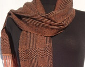 Handwoven Men / Woman Scarf  OOAK