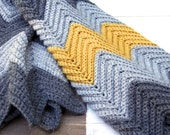 PATTERN Chevron (Zig-Zag) Baby Blanket Pattern