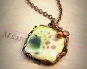 Freshwater Pearl and Artisan Enamel Brass Filigree Necklace - OLD STOCK