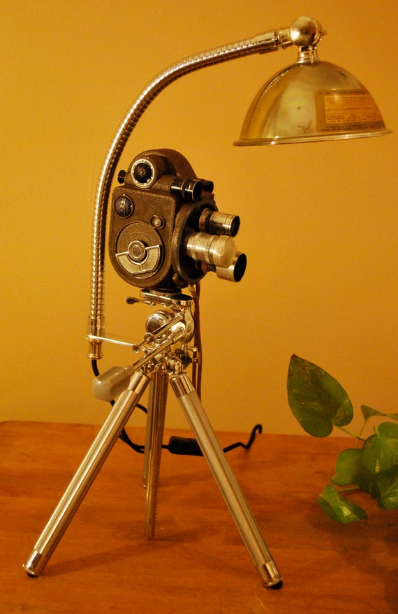 Vintage Revere 8mm Movie Camera Repurposed By Upcycledlighting