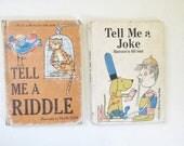 Pair of 1966 Children's Riddle and Joke Books, Tell Me a Joke, Tell Me a Riddle, Set of Books