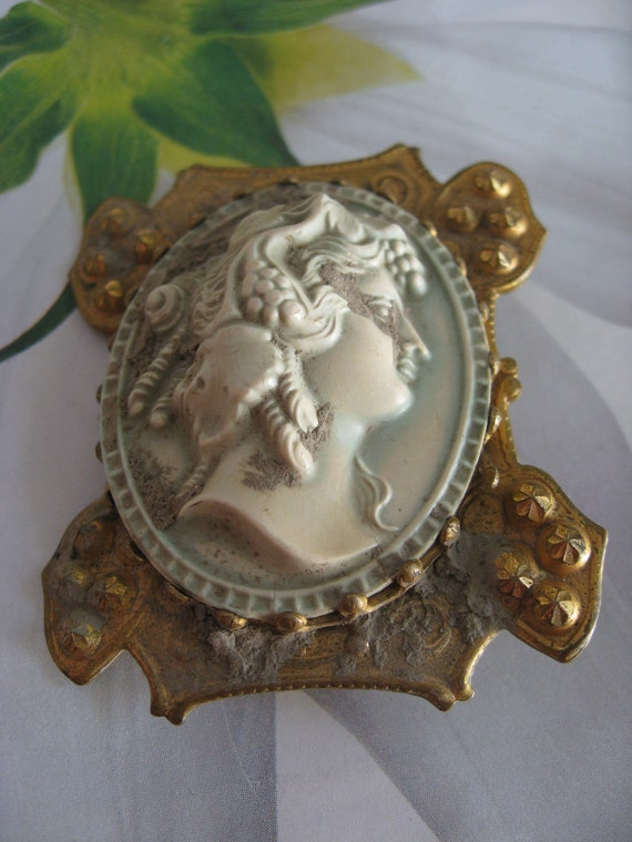 Antique Cameo Buckle Piece