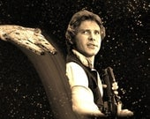 Star Wars Light Side Han Solo Obi Wan Mini Limited Edition Geekograph Metal Art