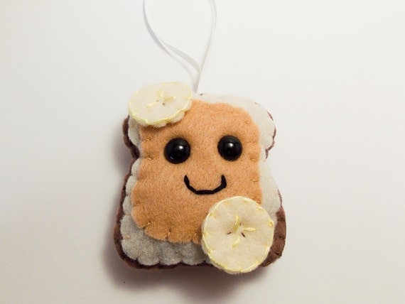 Peanut Butter & Banana Felt Ornament