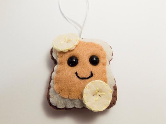 Peanut Butter & Banana Felt Ornament
