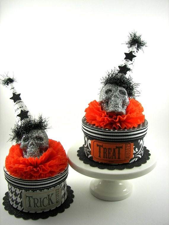 Halloween Spooky Skull Boxes Trick & Treat