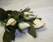 Valentine Roses Vintage Shell Rosebuds Sea Shell Roses White Shell Roses White Roses