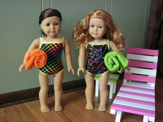 "Swimsuit for American Girl Doll / 18"" Doll clothing"