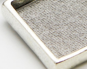 Text Pendant Only - Digits of Pi - Inset Silver Plated - Loupe Optional