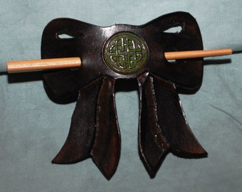 Leather Hair Barrette