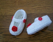 Crochet Baby Shoes/ Slippers. Ready To Ship