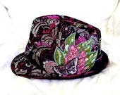Funky hand designed and customised trilby hat