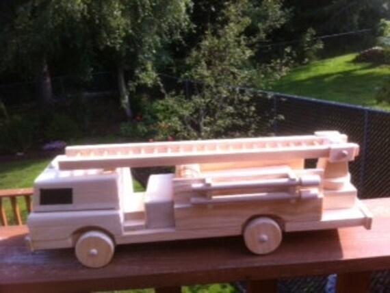 Fabulous Handmade wooden firetruck