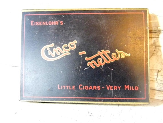 Cigar Box, Tobacco Tin, Cigar Tin, Industrial, Cottage Chic, Lodge From All Vintage Man