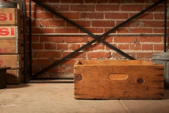 Vintage Industrial Wooden Crate