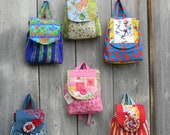 Unique Colorful Back Packs bookbags handmade