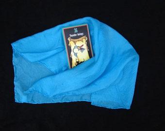 "Turquoise Silk Tarot Cloth - Altar Cloth - Hand Dyed 20""x20""...100% Silk - Tarot Wrap"
