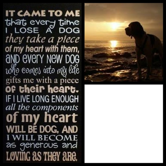 Pet Memorial Poem personalized with your Dog's picture