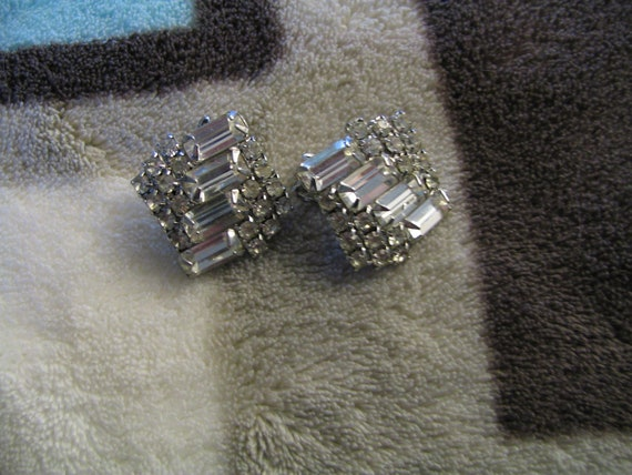 Gorgeous Statement Rhinestone Clip Ons