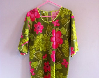 """1970's  """" Vera """" Cotton Pool / Beach Cover-up Top"""