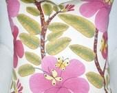 High end DESIGNER Linen Butterfly Motif Pillow Cover