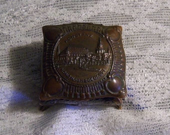 Vintage Kontanz Konziliumsgebaude German Metal Trinket Box Ca. 1950s